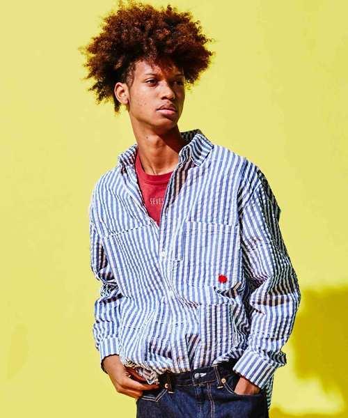春夏新作モデル 【SEVESKIG】SEERSUCKER PANEL STORE,トウキョウ BORO-SHIRT(シャツ デパートメント DEPARTMENT/ブラウス) SEVESKIG(セヴシグ)のファッション通販, セール 登場から人気沸騰:db45d7ed --- svarogday.com