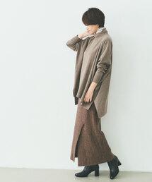 [ 別注 ][ アウターサンセット ] SC OUTERSUNSET×GLR ニット スリット スカート