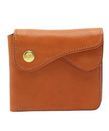 cramp(クランプ)の【イタリアンショルダーシュリンクレザー】Wフラップ二つ折り財布(財布)