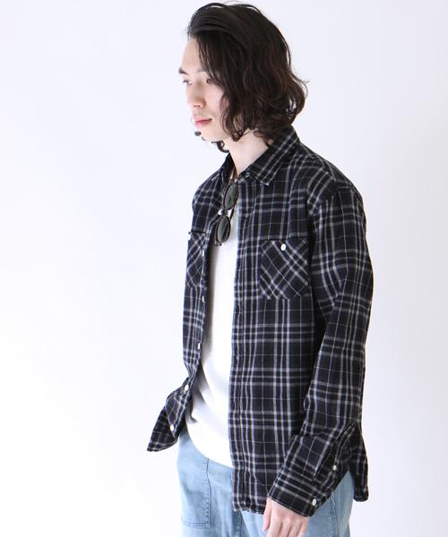 先染めチェックレギュラーシャツ
