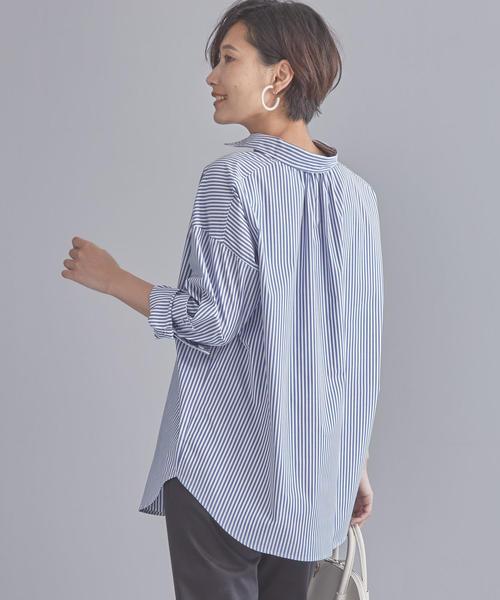 【WORK TRIP OUTFITS】BC ストライプ ビッグシャツ