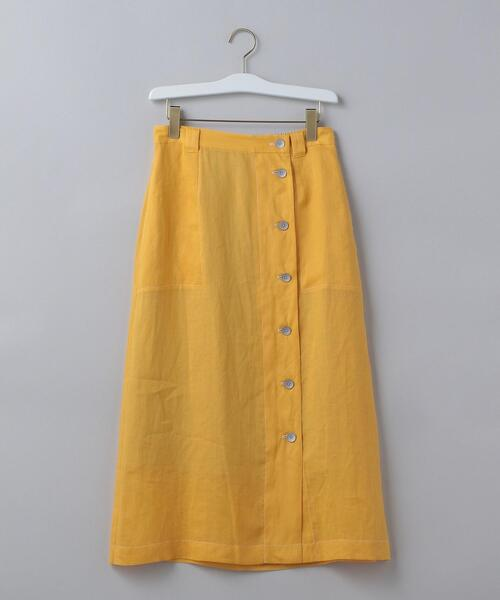 <6(ROKU)>BUTTON LONG SKIRT/スカート