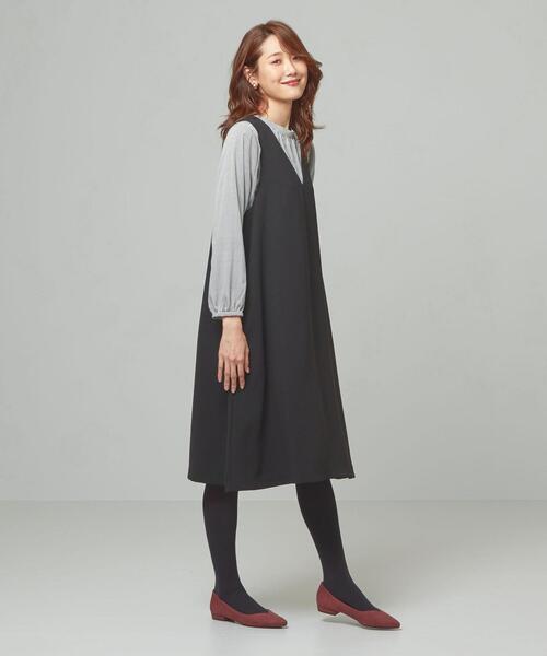 <closet story>□Aライン ジャンパースカート -手洗い可能-