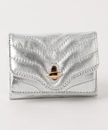<Hashibami>レザー3つ折りミニウォレット/財布