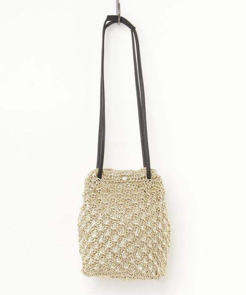 コード編み巾着バッグ