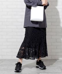 【WEB限定】レースマーメイドスカート
