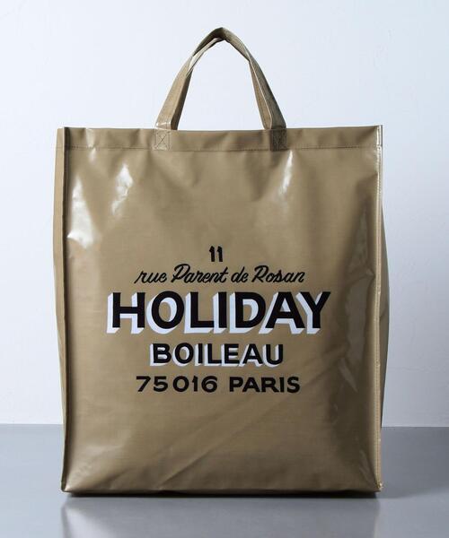 <HOLIDAY BOILEAU(ホリディ ボワロ)> THE PVC TOTE BAG