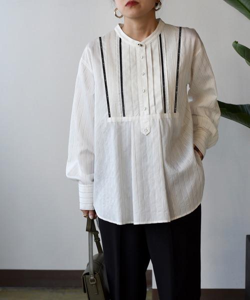 ストライプドレスシャツ