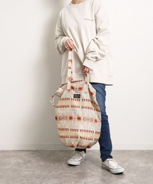 【PENDLETON × YURIE  / ペンドルトン × ユリエ 】DRAW UTILTY BAG ドロー ユーティリティーバッグ エコバッグオフホワイト