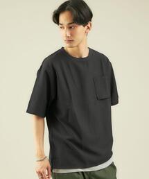 < 機能 / 吸水速乾 > ドライ タンクトップ レイヤード クルーネック Tシャツ カットソー