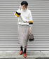 「BRIGHT CHENILLE YARN SKIRT」