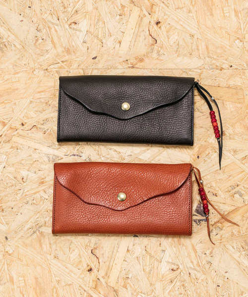BEADS LEATHER LONG WALLET / ビーズレザーロングウォレット