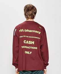 <PRiVATE LESSONS> PHARMACY LS TEE MTEX/Tシャツ