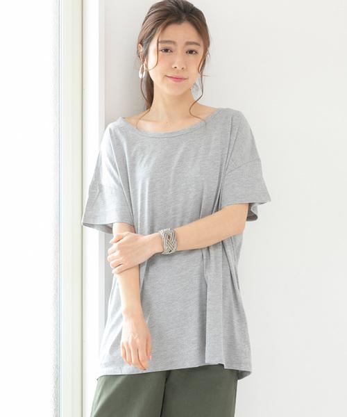 Fizz(フィズ)の「ビッグシルエットTシャツ(Tシャツ/カットソー)」|グレー