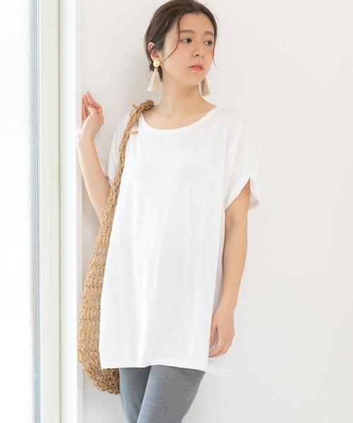 Fizz(フィズ)の「ビッグシルエットTシャツ(Tシャツ/カットソー)」|オフホワイト