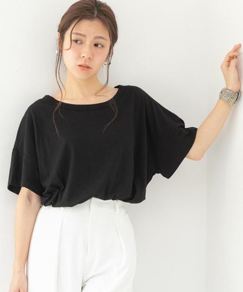 Fizz(フィズ)の「ビッグシルエットTシャツ(Tシャツ/カットソー)」|ブラック
