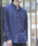 003 J.FERRY(ゼロゼロスリージェイフェリー)の「パターンボタンダウンシャツ(シャツ/ブラウス)」|ブルー
