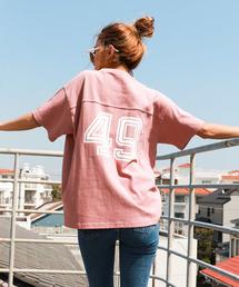 Auntie Rosa Holiday(アンティローザホリデー)の【Holiday】ナンバリングフットボールTシャツ ヘヴィーウェイトコットン(Tシャツ/カットソー)
