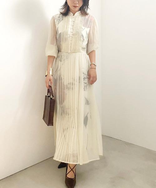 AMERI(アメリ)の「ELLA VEIL DRESS(ワンピース)」 ホワイト