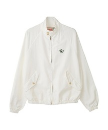 LAUREL WOMAN刺繍 ハリントンジャケットホワイト