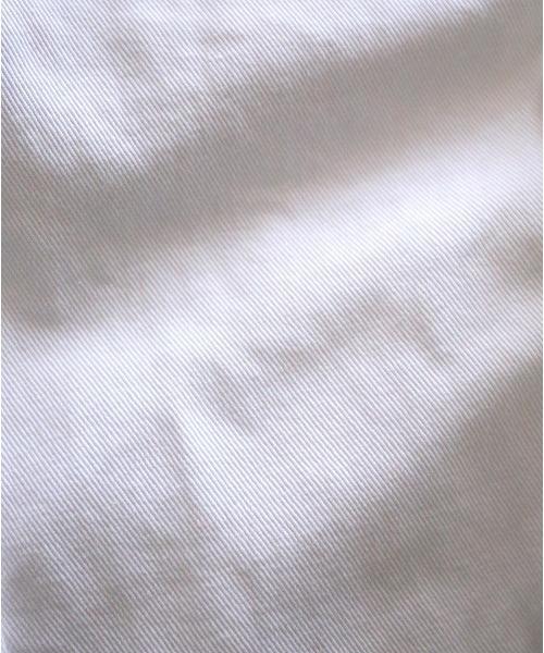 ホワイトデニム テーパードパンツ
