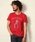 TMT(ティーエムティー)の「【TBSドラマ「凪のお暇」着用】S/SL GAUZE STRETCH JERSEY(AFRO GIRL)(Tシャツ/カットソー)」|レッド