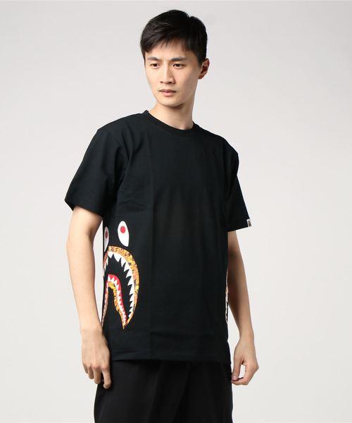 A BATHING APE(アベイシングエイプ)の「BAPE FLAME SIDE SHARK TEE M(Tシャツ/カットソー)」|ブラック系その他7