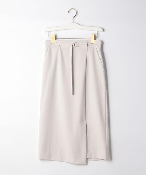 D ツイル ラップライク スカート