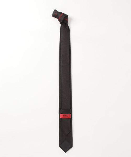 HUGO(ヒューゴ)の「シルクジャカード ロゴプリント ネクタイ(ネクタイ)」|詳細画像