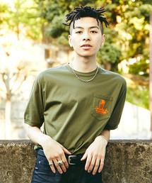 ROCK'N'ROLL プリント ポケ付Tシャツ