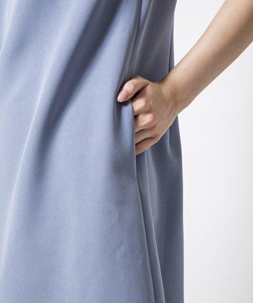 衿ビジューAラインワンピース[DRESS/ドレス]
