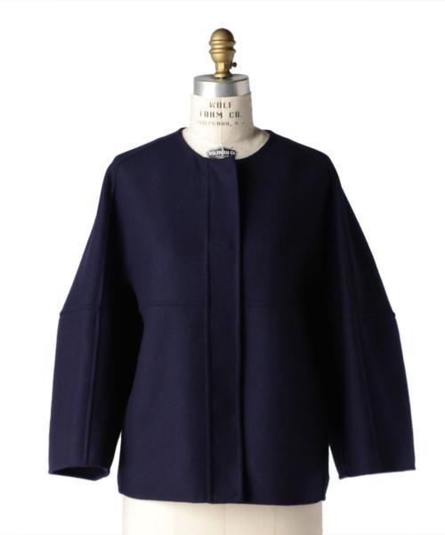 Drawer ウールケヌキノーカラージャケット