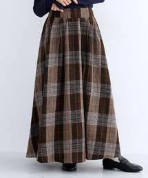 merlot(メルロー)のチェック柄ボリュームスカート3311(スカート)