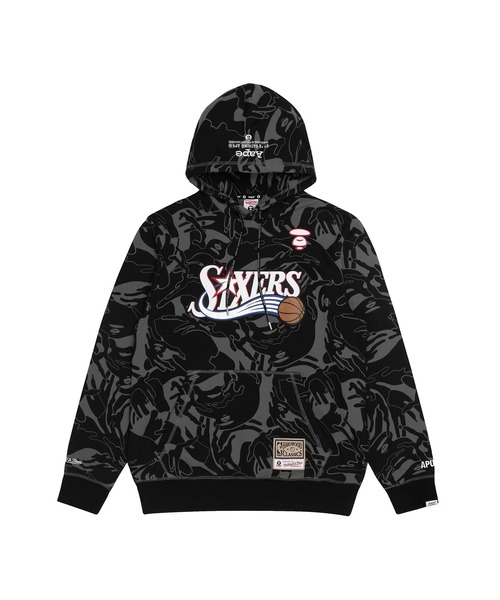 AAPE X Mitchell&Ness NBA SIXERS HOODIE