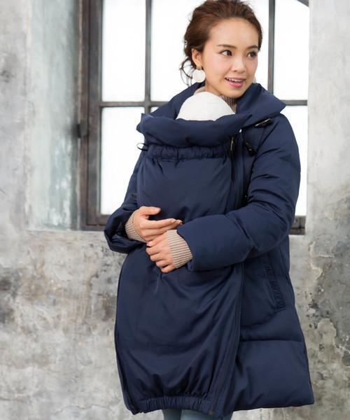 【人気商品!】 【セール】ダッフル風 襟2WAYダウンママコート 抱っこダッカー付き(マタニティウェア)|SweetMommy(授乳服&マタニティ)(スウィートマミー)のファッション通販, ベストデリカ:b3635b8b --- skoda-tmn.ru