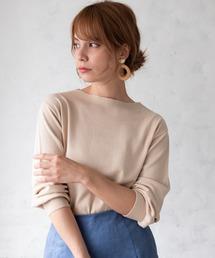 TIENS ecoute(ティアンエクート)の衿リブ袖ボリュームニット(ニット/セーター)