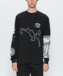 <P.A.M.> DEEP MESSAGES LS/Tシャツ