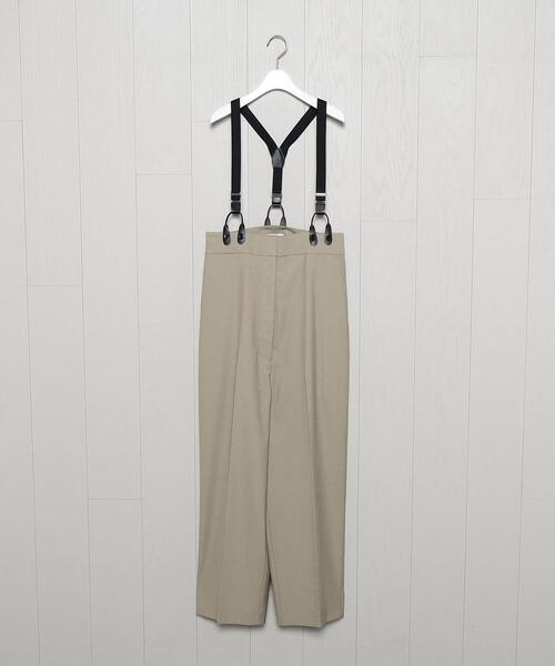 <H>HIGH WAIST SUSPENDERS PANTS/パンツ.