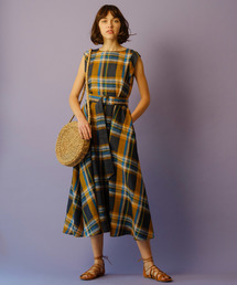 BANNER BARRETT(バナーバレット)のLINEN CHECK DRESS / リネンチェックドレス(ワンピース)