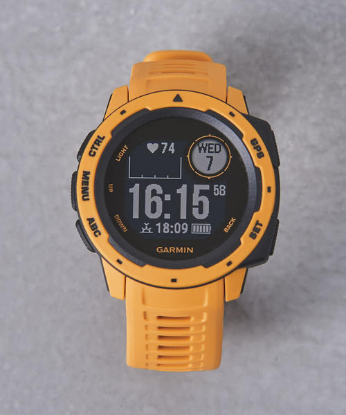 GARMIN(ガーミン)の「<GARMIN(ガーミン)> InstinctΩ(アナログ腕時計)」|マスタード