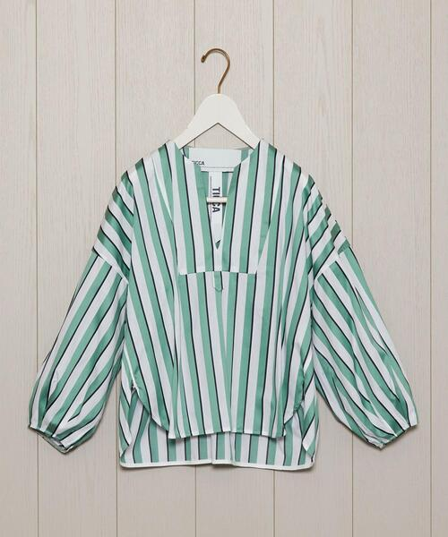 <TICCA>MULTI STRIPE BLOUSE/ブラウス