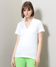 <AURALEE>SEAMLESS V NECK T-SHIRT/Tシャツ.◇