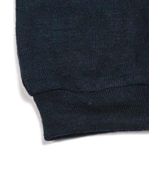 クルーネックロングスリーブニットセーター