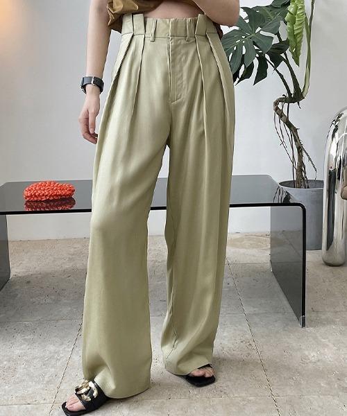 【chuclla】【2021/SS】2tuck wide pants chw1556