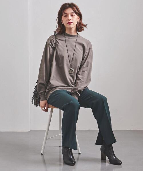 WEB限定<UNITED ARROWS>C モックネック ロングTシャツ W