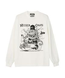 MESSER CHUPS/CROCO TIGER Tシャツホワイト