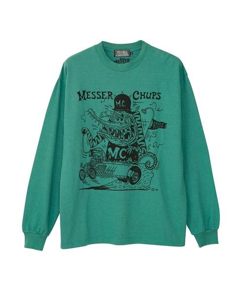 MESSER CHUPS/CROCO TIGER Tシャツ