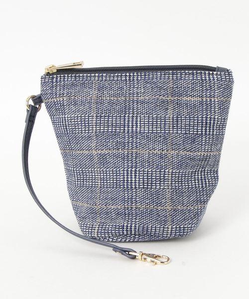 COOCO/折りたたみチェック柄バッグ