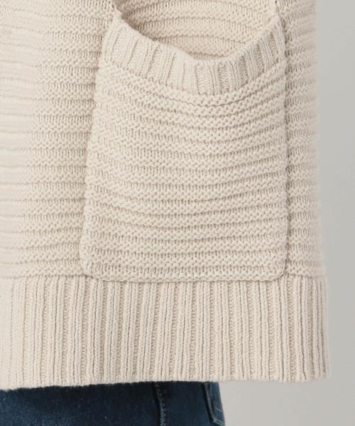 5Gガーター編みカーディガン