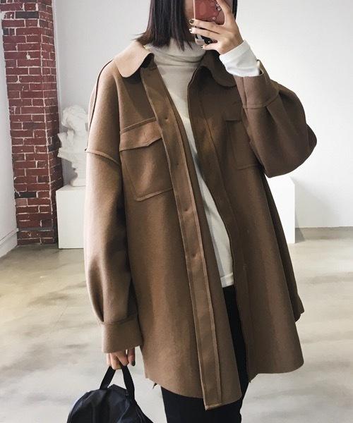 【chuclla】  ビッグシルエット オーバーサイズ  CPO シャツジャケット chw556
